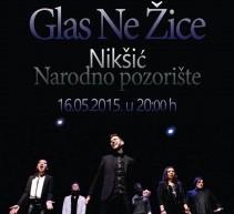 Glas Ne Žice u sali Narodnog pozorišta u Nikšiću