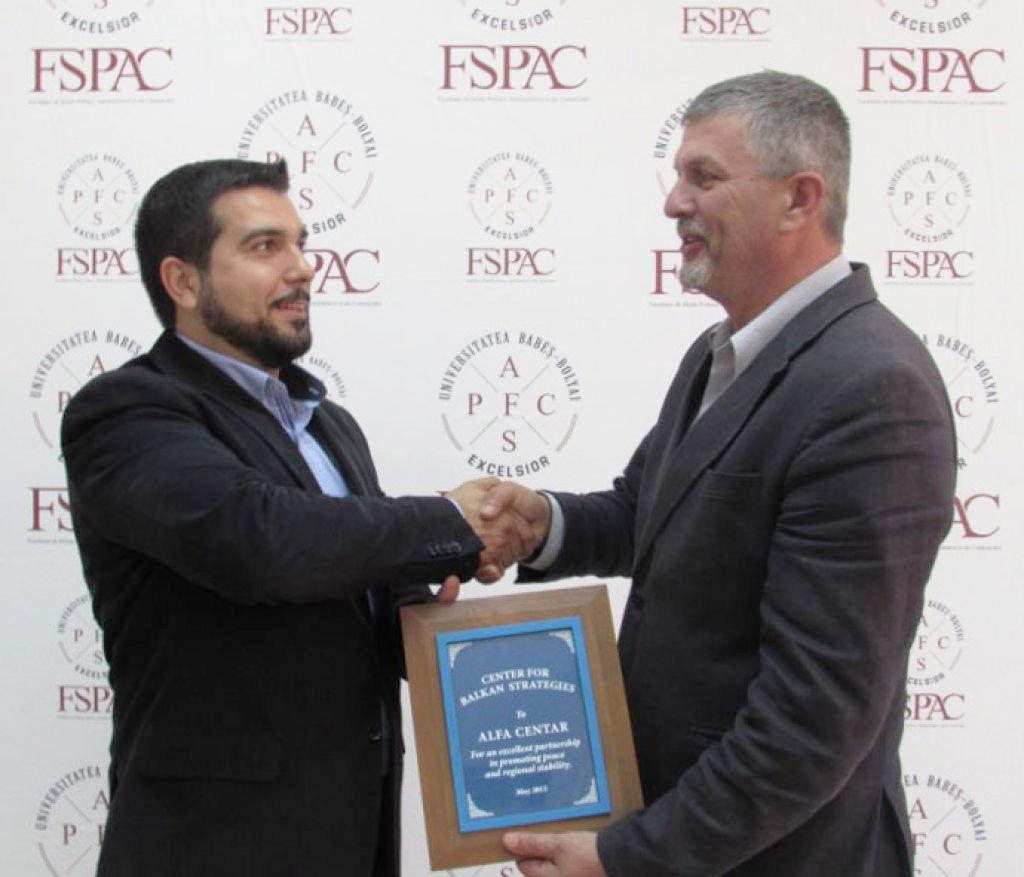 ALFA Centru nagrada za doprinos u izgradnji mira