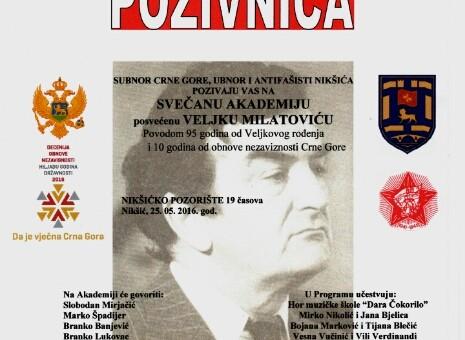 Akademija posvećena Veljku Milatoviću