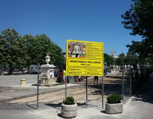 Počela rekonstrukcija Trga Slobode