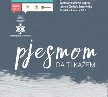 """Koncert Tamare Pavićević """"Pjesmom da ti kažem"""""""