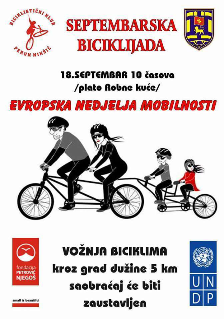 Septembarska biciklijada u Nikšiću