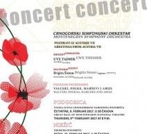 """Koncert Crnogorskog simfonijskog orkestra """"POZDRAV IZ AUSTRIJE VII"""""""