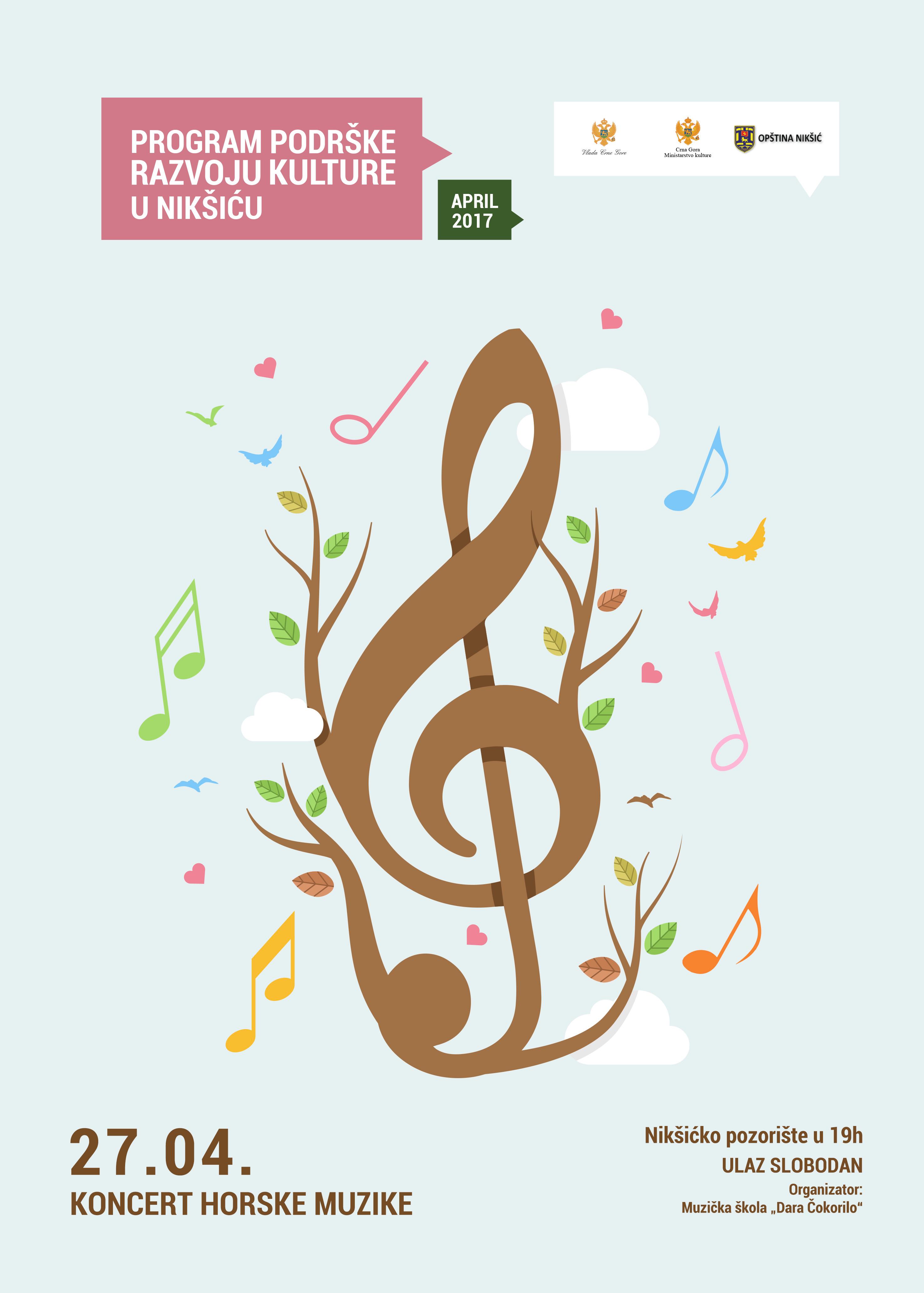 Koncert horske muzike u Pozorištu