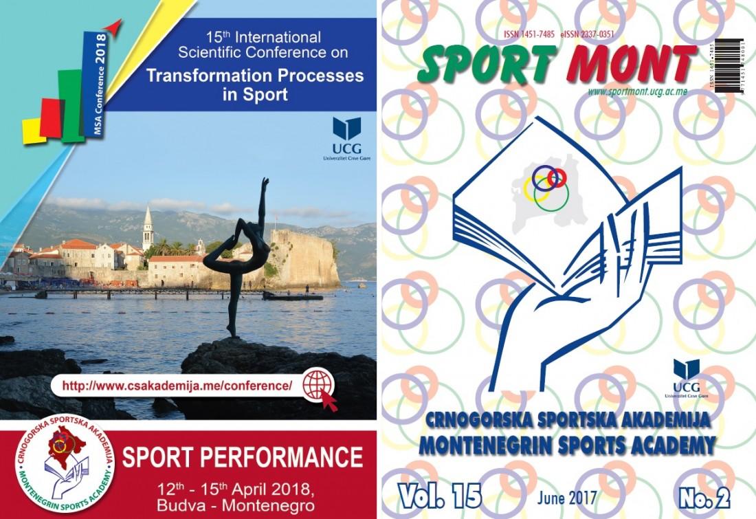 """Novi broj naučnog časpisa """"Sport Mont"""""""