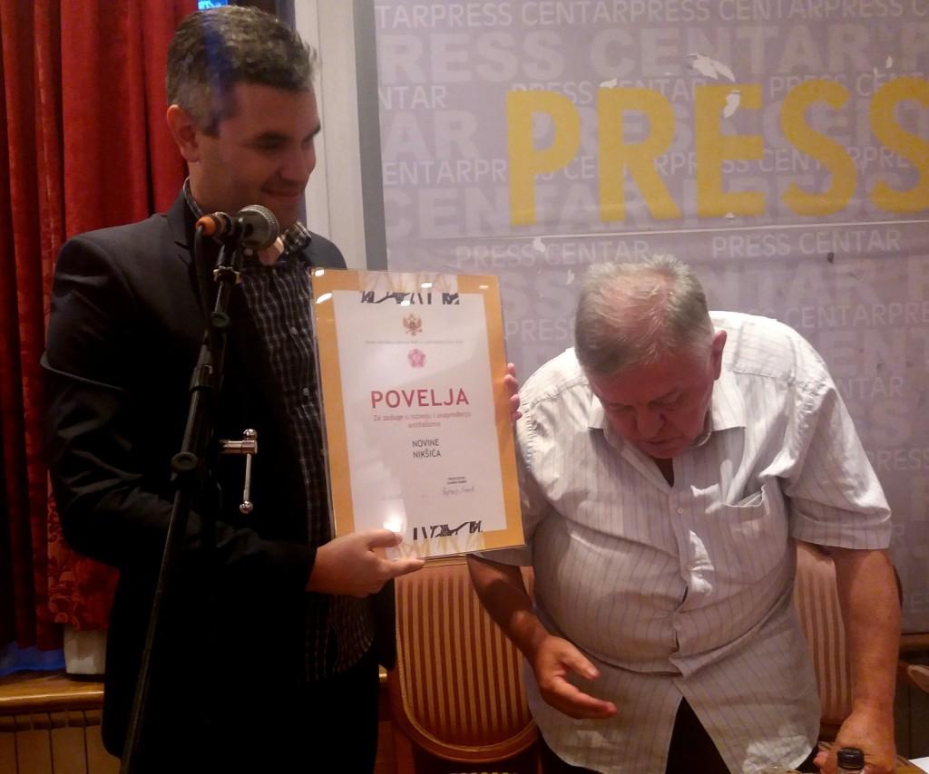 Sa promocije Novina Niksica Vladimir Sestovic, Slobodan Bato Mirjacic