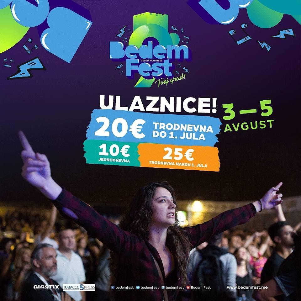 Bedem Fest: U toku prodaja promotivnih ulaznica