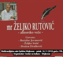 Autorsko veče Željka Rutovića