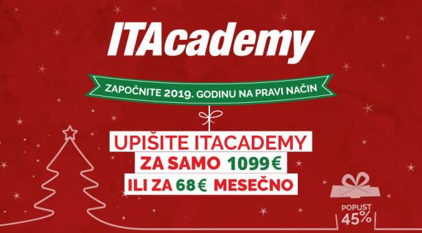 PROMIJENITE ŽIVOT U 2019: Upišite ITAcademy za samo 68€ mjesečno