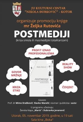 Promocija knjige Željka Rutovića u Kotoru