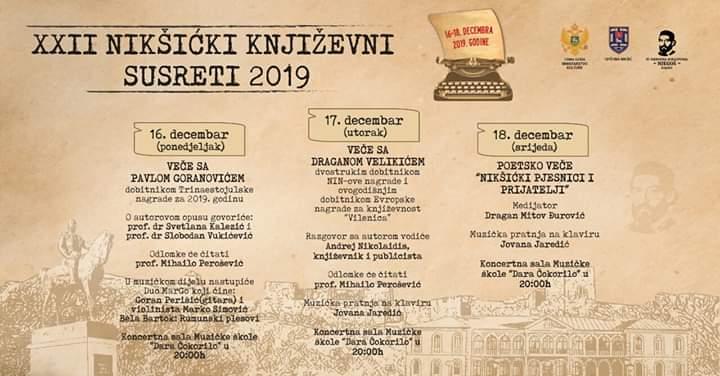 XXII Nikšićki književni susreti