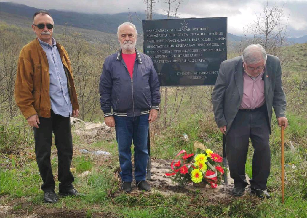 UBNOR i antifašisti Nikšića obišli partizanko spomen-obilježje