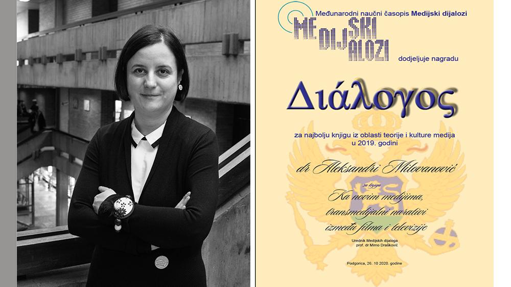 Dijalogos za 2019. prof. dr Aleksandri Milovanović