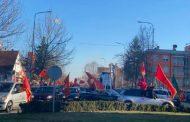 Crnogorska auto kolona u Nikšiću