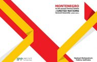 """""""Montenegro at the annual General Debate of the United Nations General Assembly (2006-2021)""""."""