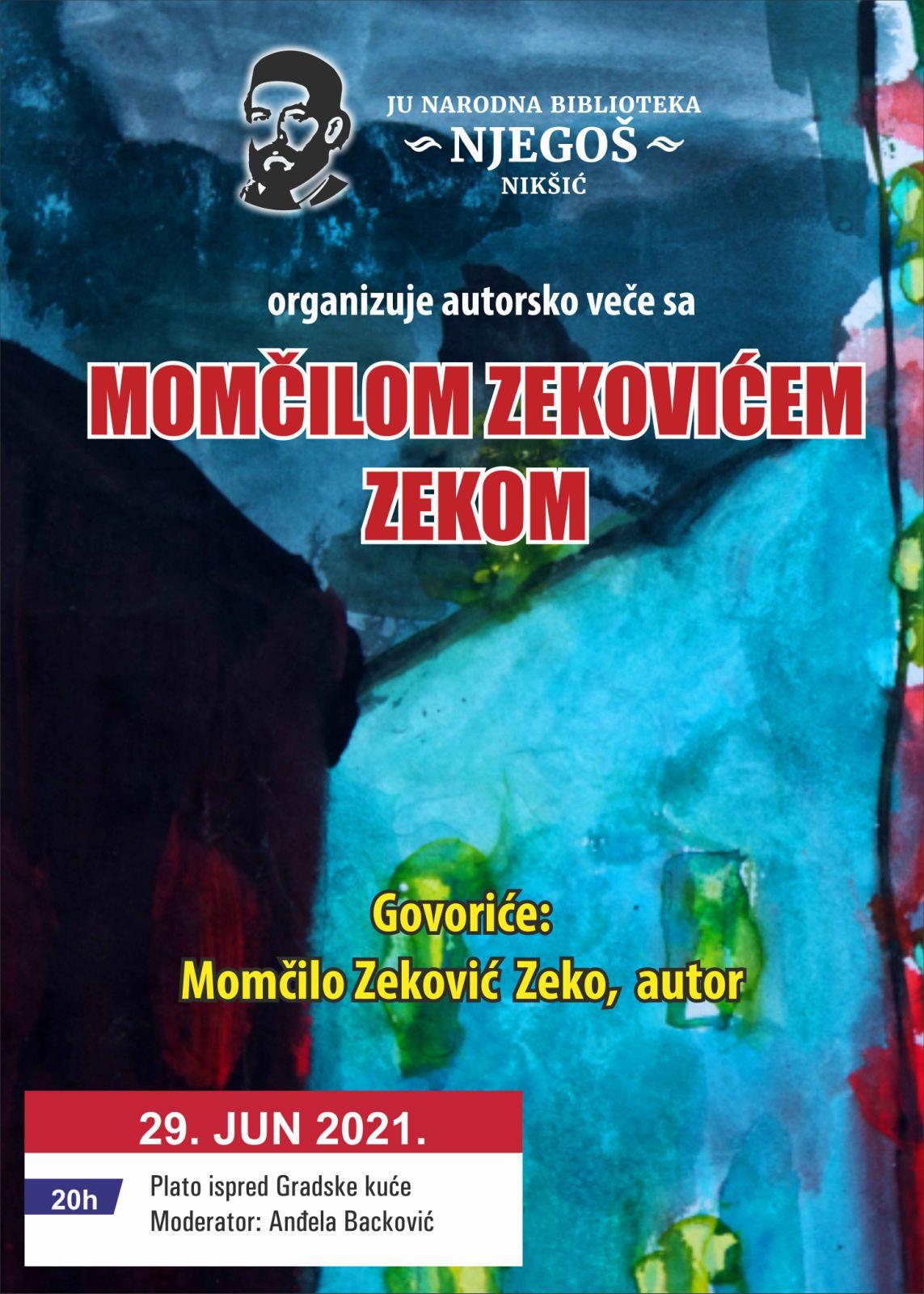 Predstavljanje knjige poezije SVE IZ JEDNOG MJESTA u Nikšiću
