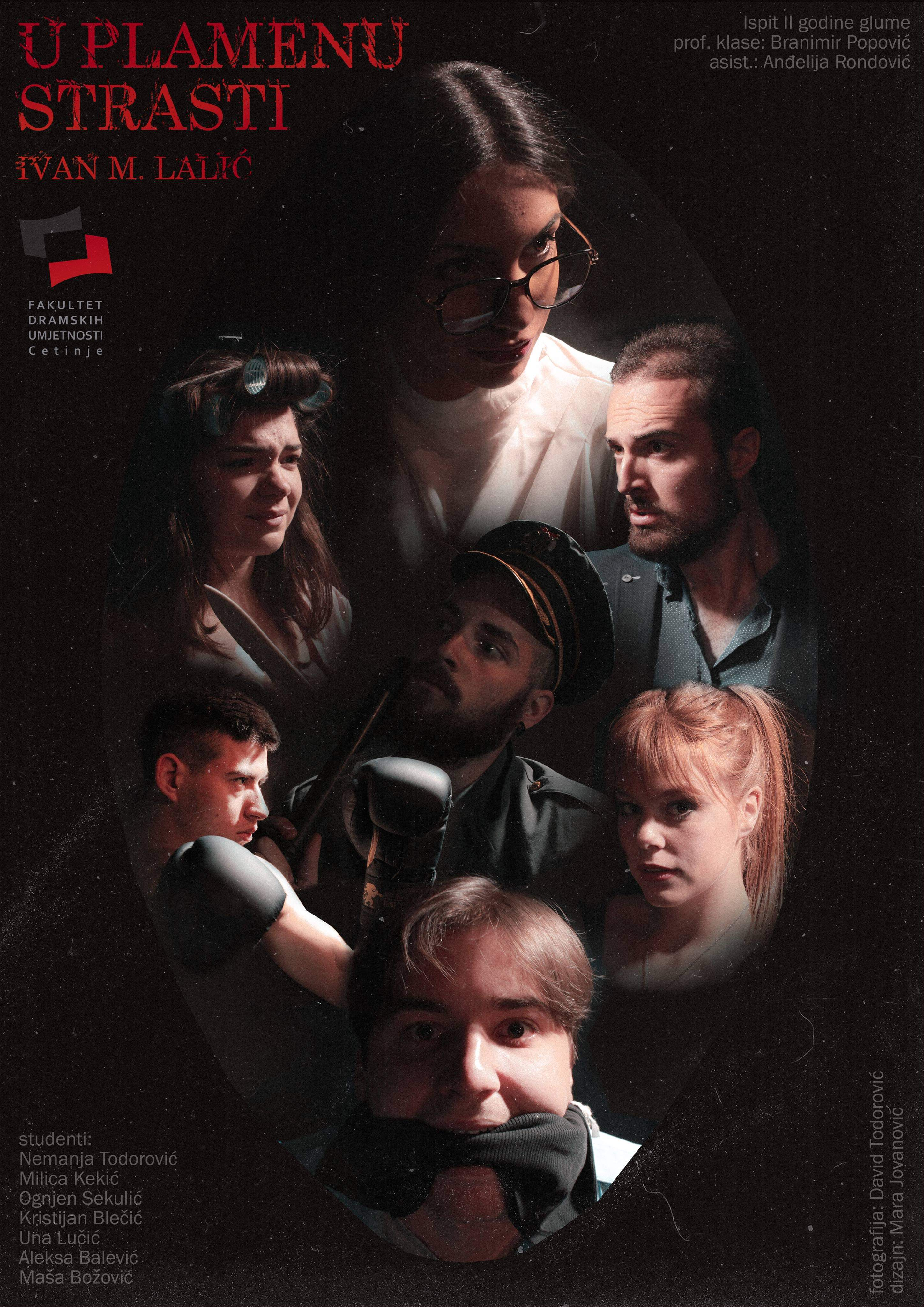 U Nikšićkom pozorištu: Ispitna predstava II godine glume FDU Cetinje ,,U plamenu strasti