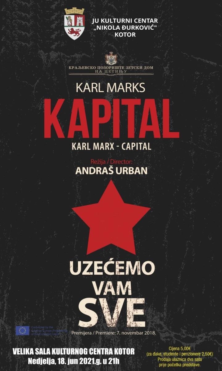"""Predstava """"Kapital"""" u kotorskom Kulturnom centru"""