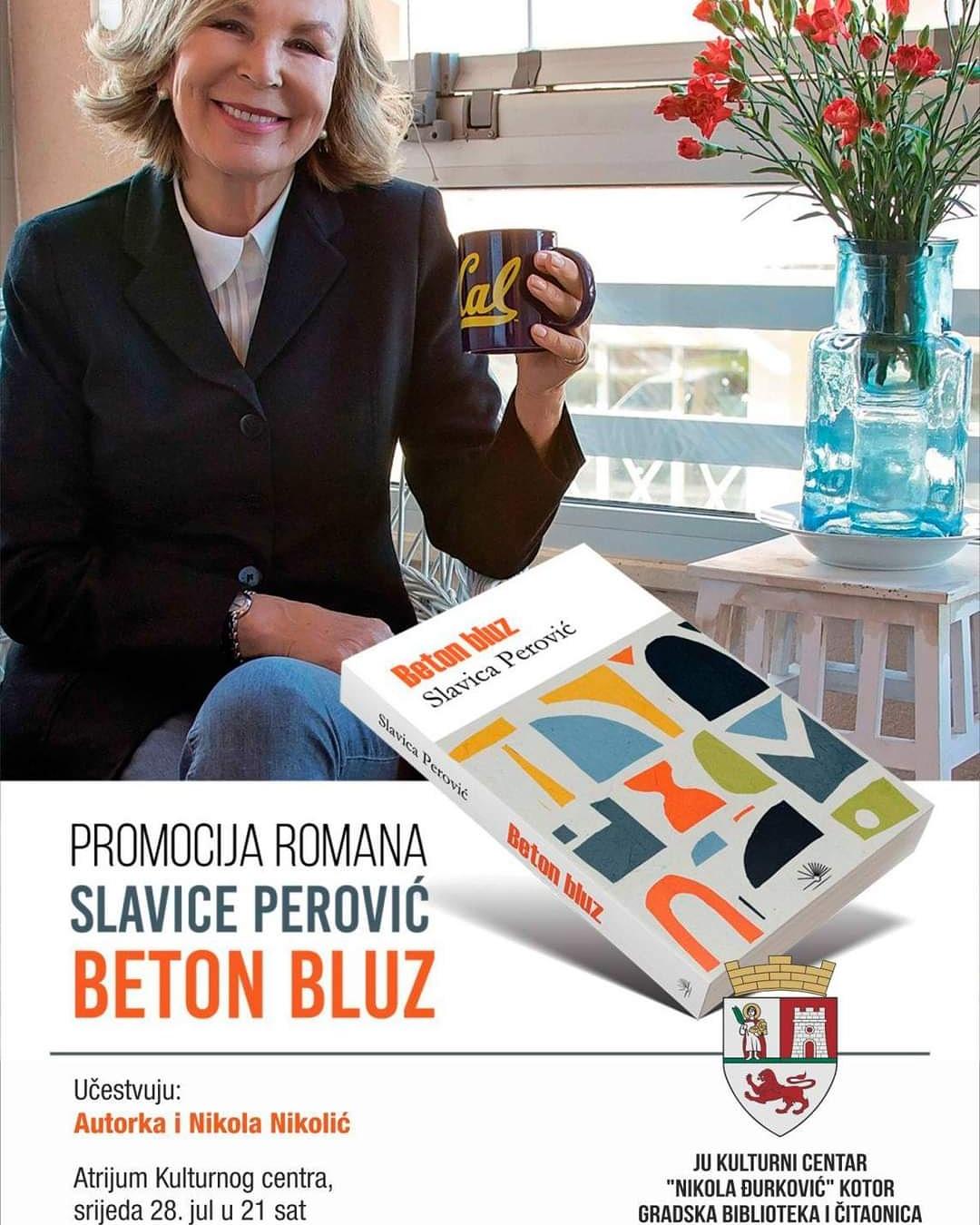 "Promocija novog romana prof. dr Slavice Perović ""Beton bluz"""