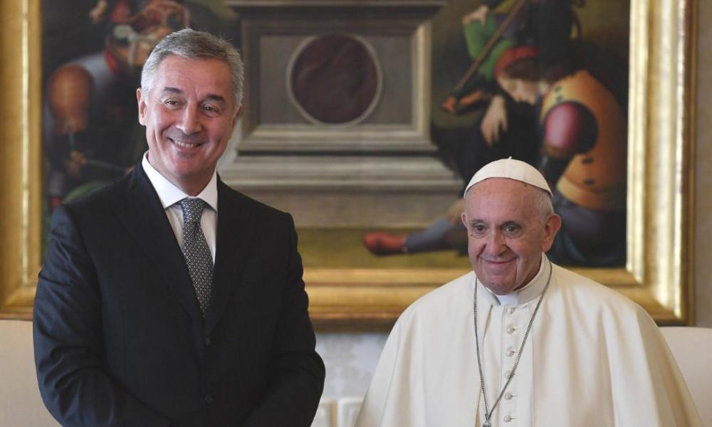 Papa Franjo Đukanoviću: Da svi u Crnoj Gori zauvijek žive u miru i blagostanju