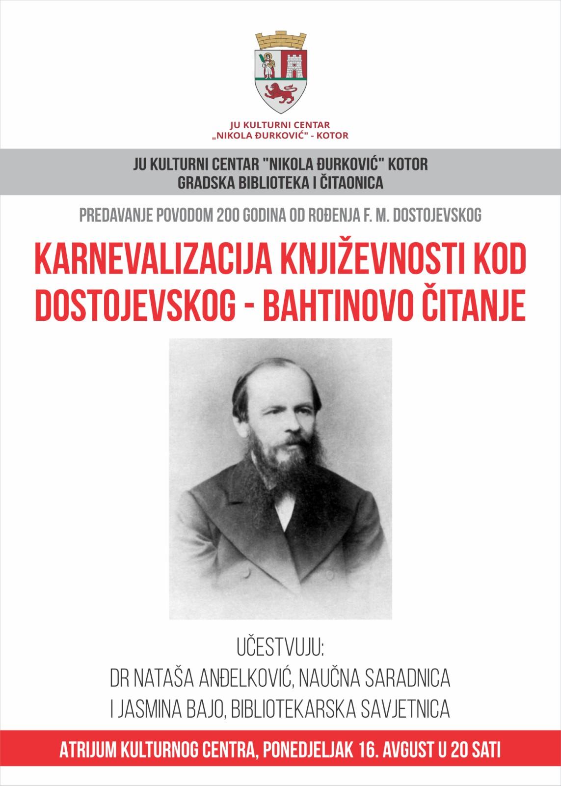 Karnevalizacija književnosti kod Dostojevskog – Bahtinovo čitanje